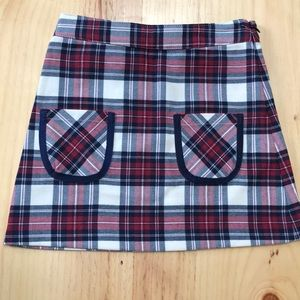 NWT Brooks Brothers Red Plaid Girls Skirt Size 5